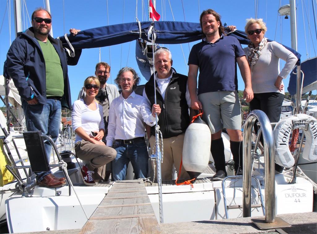 Drei Prüflinge, drei Mitfahrer als Crew sowie Ludwig und Florian.